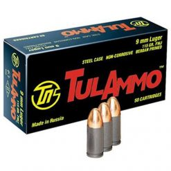 TulAmmo 9mm Steel Cased 115 Grain FMJ Box of 50